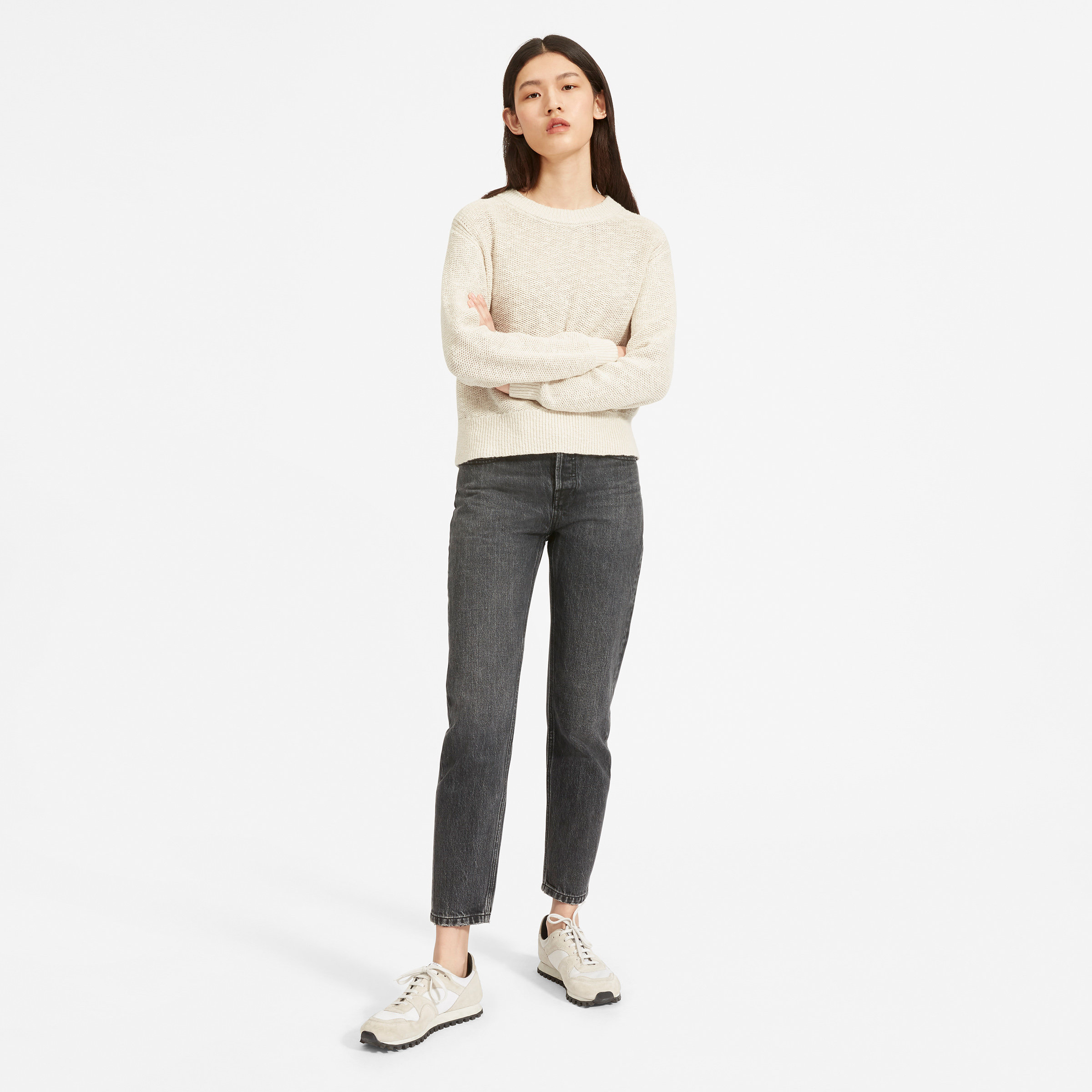 Beige Oversized Trui.Women S Sweaters Cashmere Cardigans And Knit Everlane