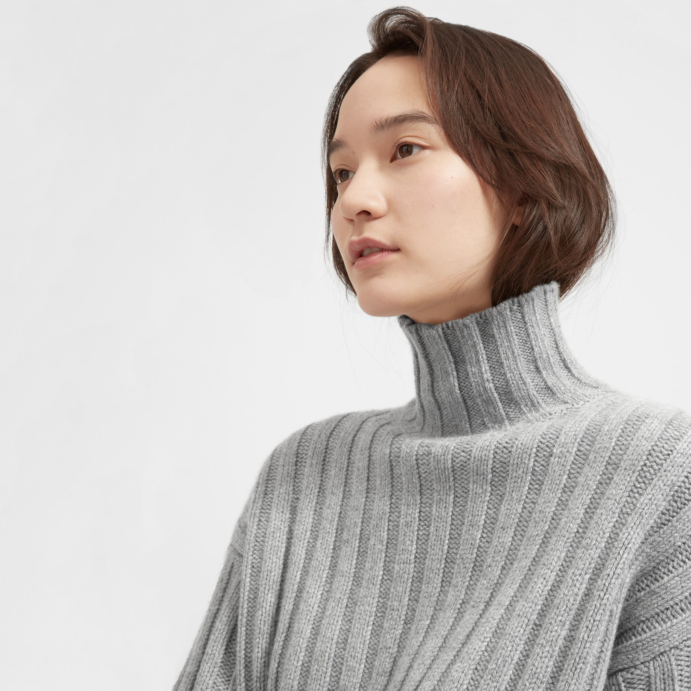 The Wool-Cashmere Rib Oversized Turtleneck –  125 a3068c3a4