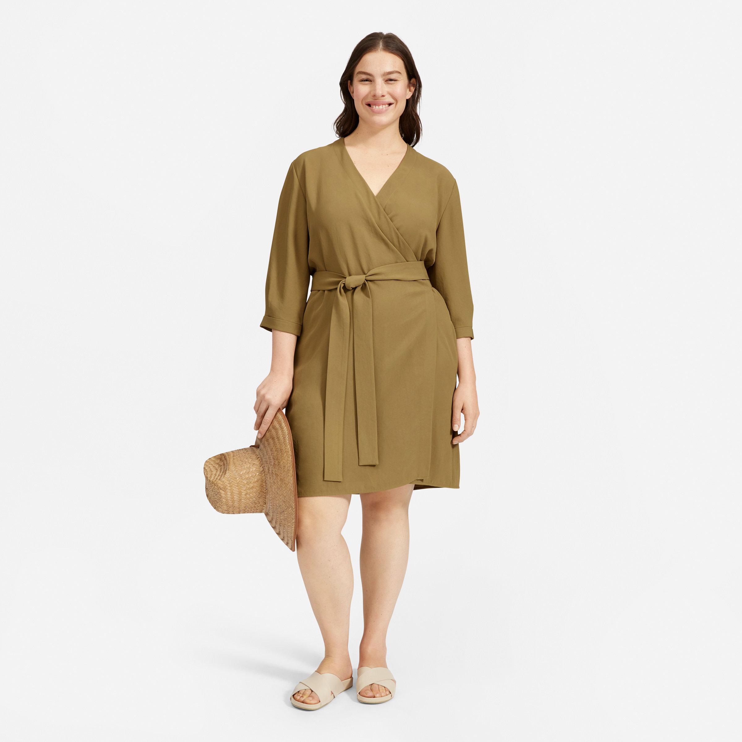 edf3b770aff Women s Japanese GoWeave Long-Sleeve Mini Wrap Dress