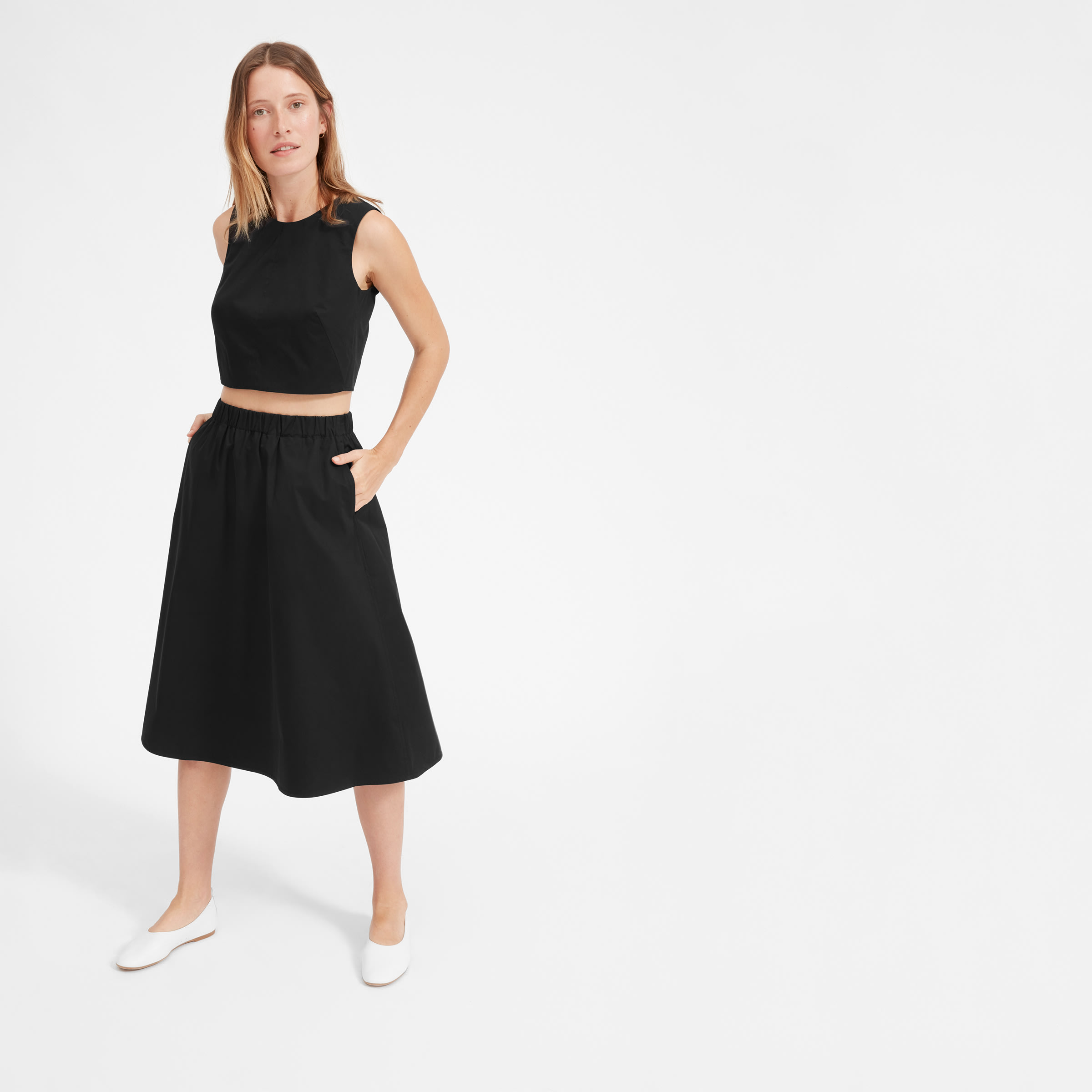 The Clean Cotton A Line Skirt by Everlane