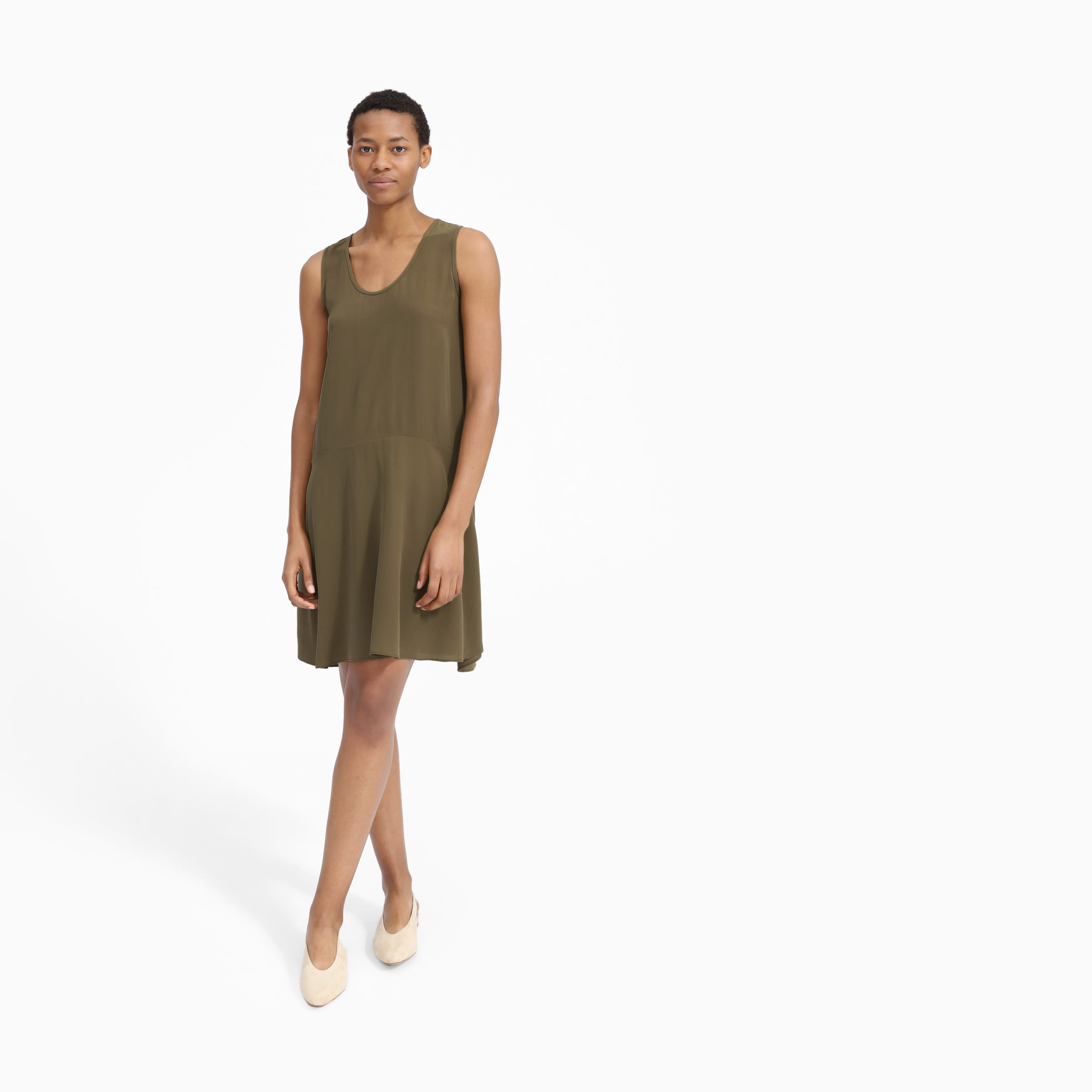 59ee251c58fd Women's Clean Silk Sleeveless Dress | Everlane