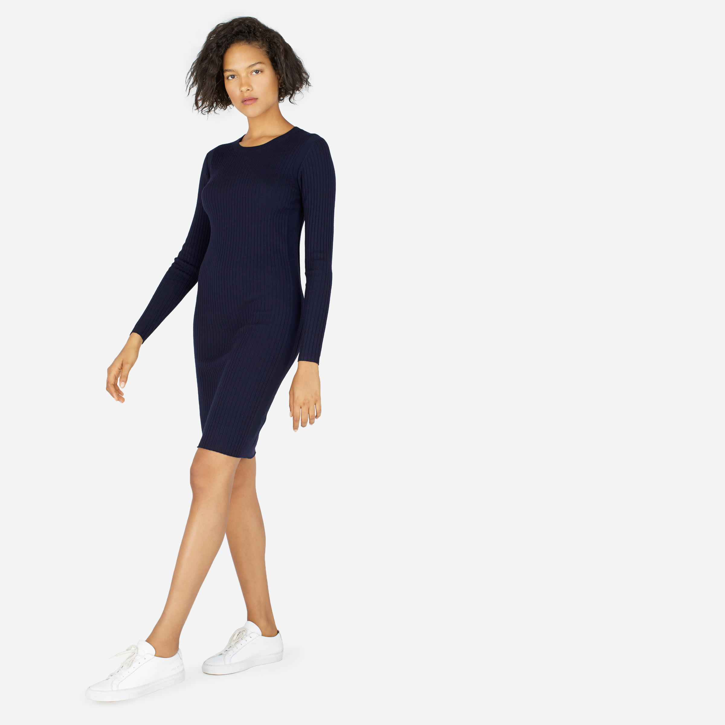 425684e9a15 The Luxe Wool Ribbed Long-Sleeve Dress —  110