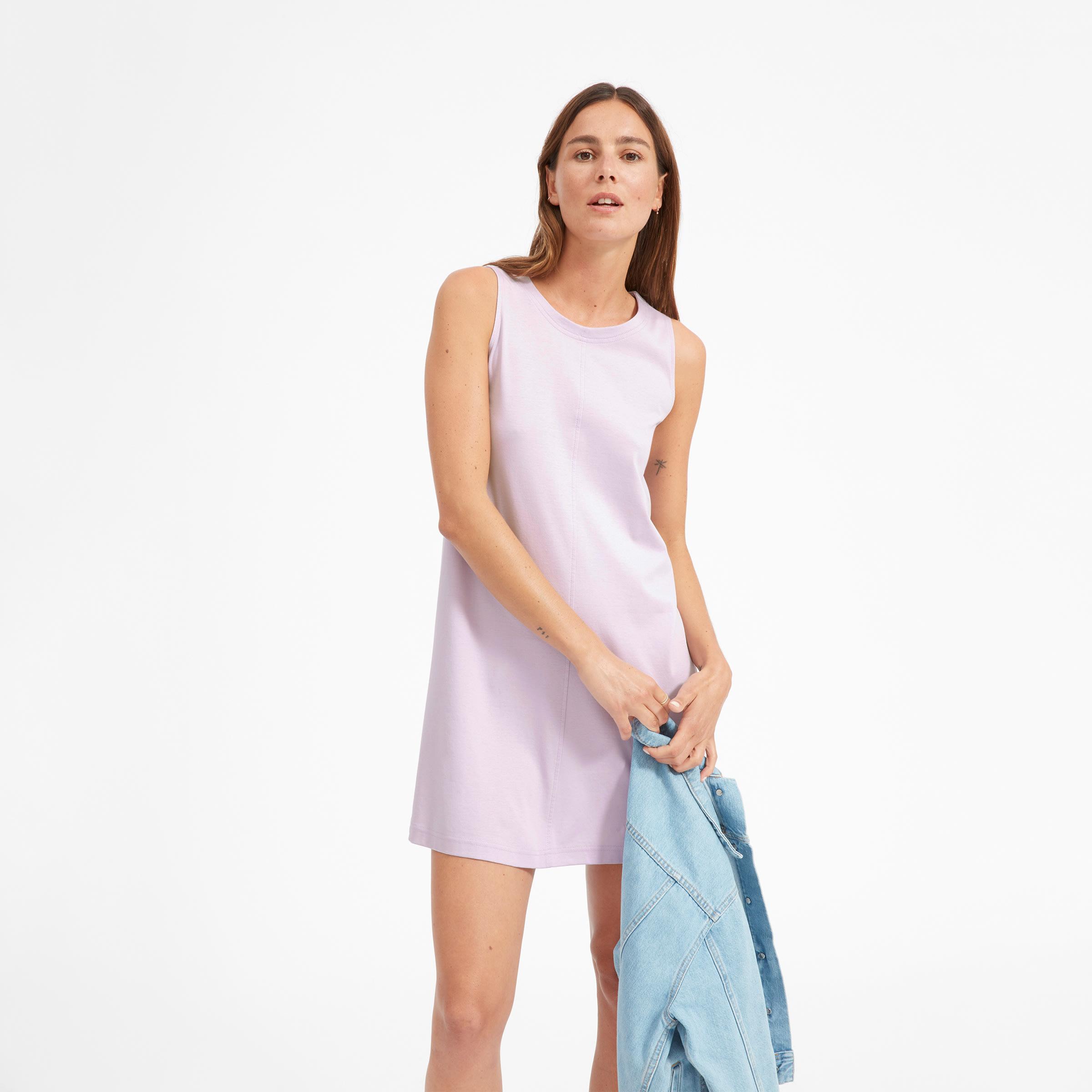 36a3c17cae5d91 Women's Luxe Cotton A-Line Tank Dress | Everlane
