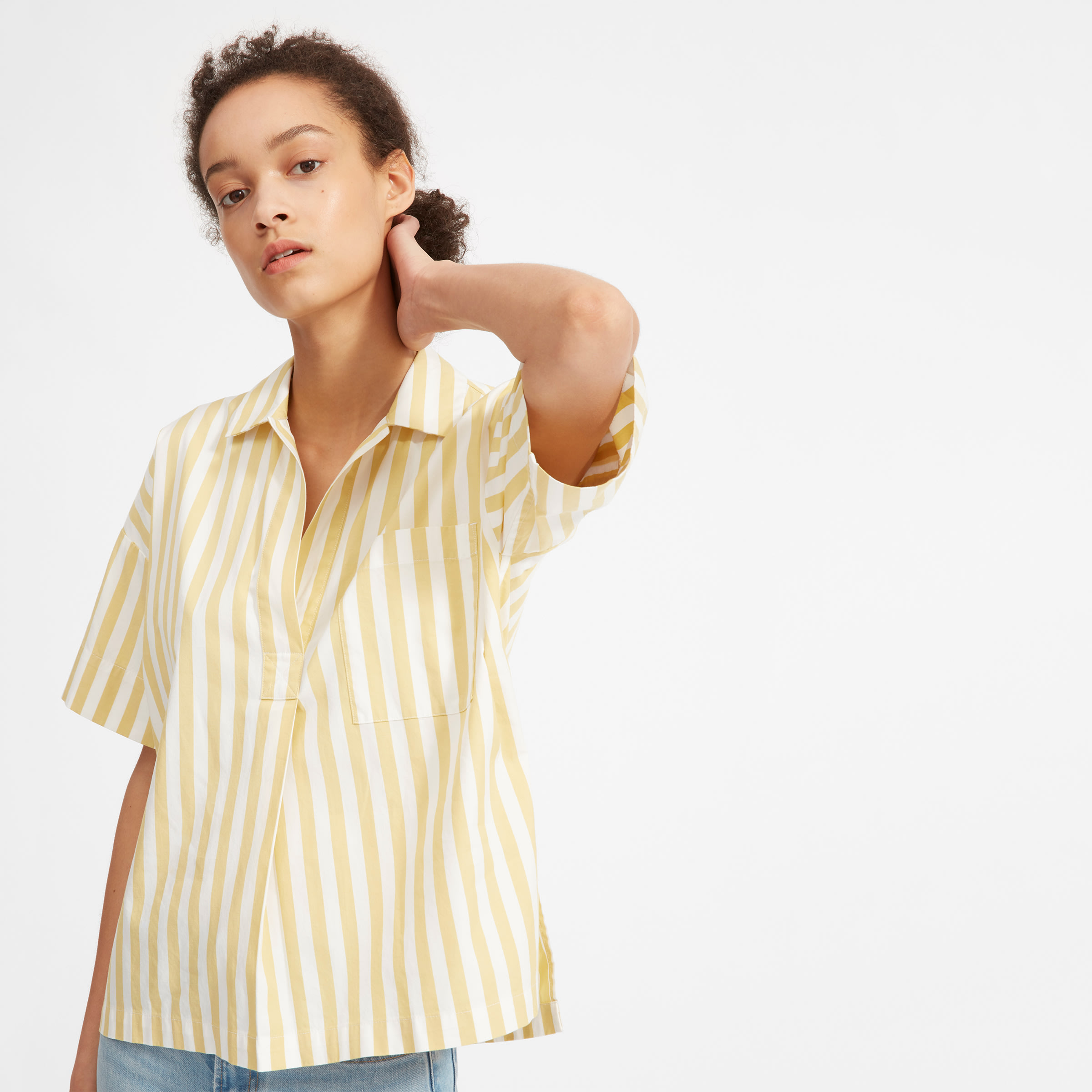 fe91caa46f1 Women's Cotton Short-Sleeve Popover Shirt | Everlane