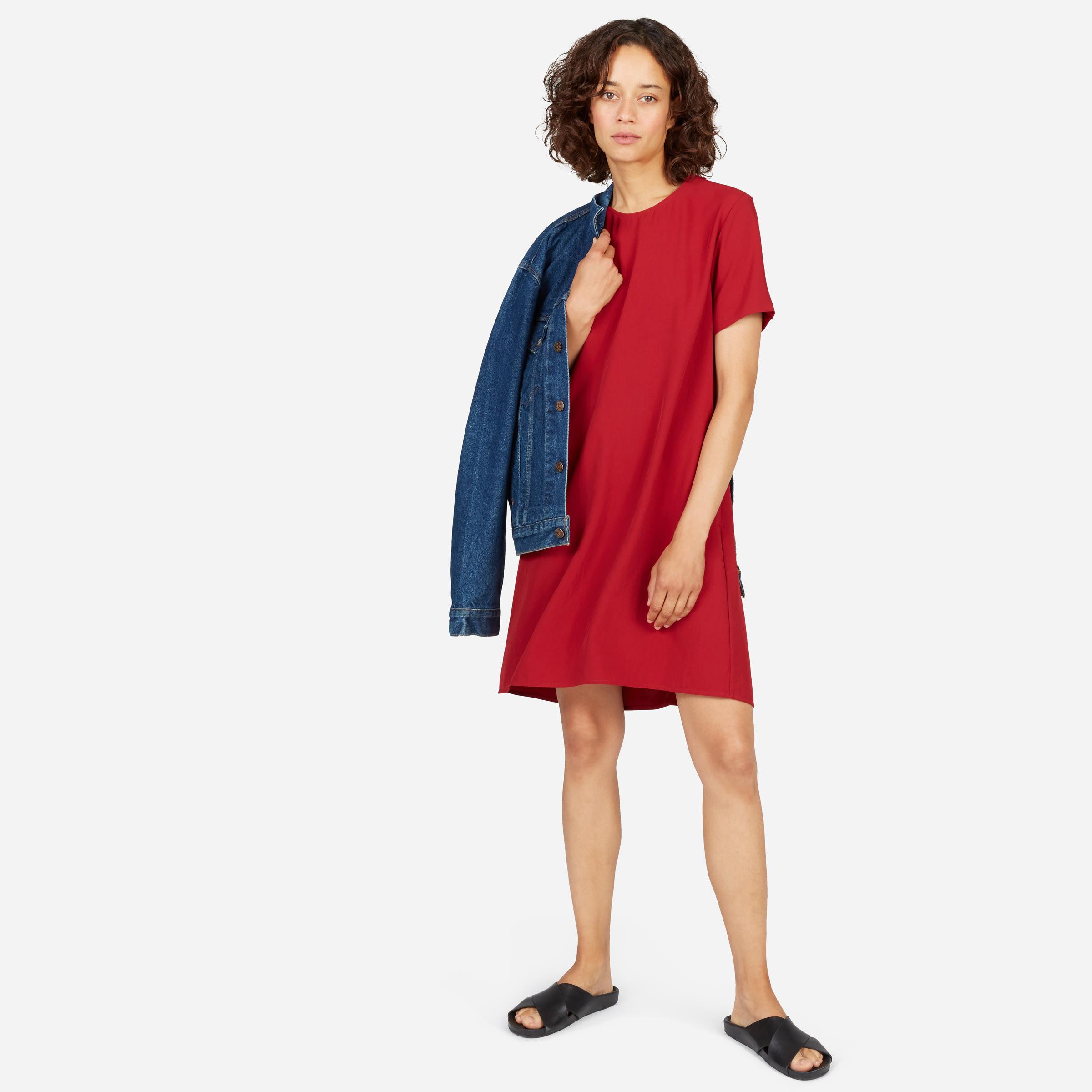 7bfbd4117a Women's Japanese GoWeave Short-Sleeve A-Line Dress   Everlane
