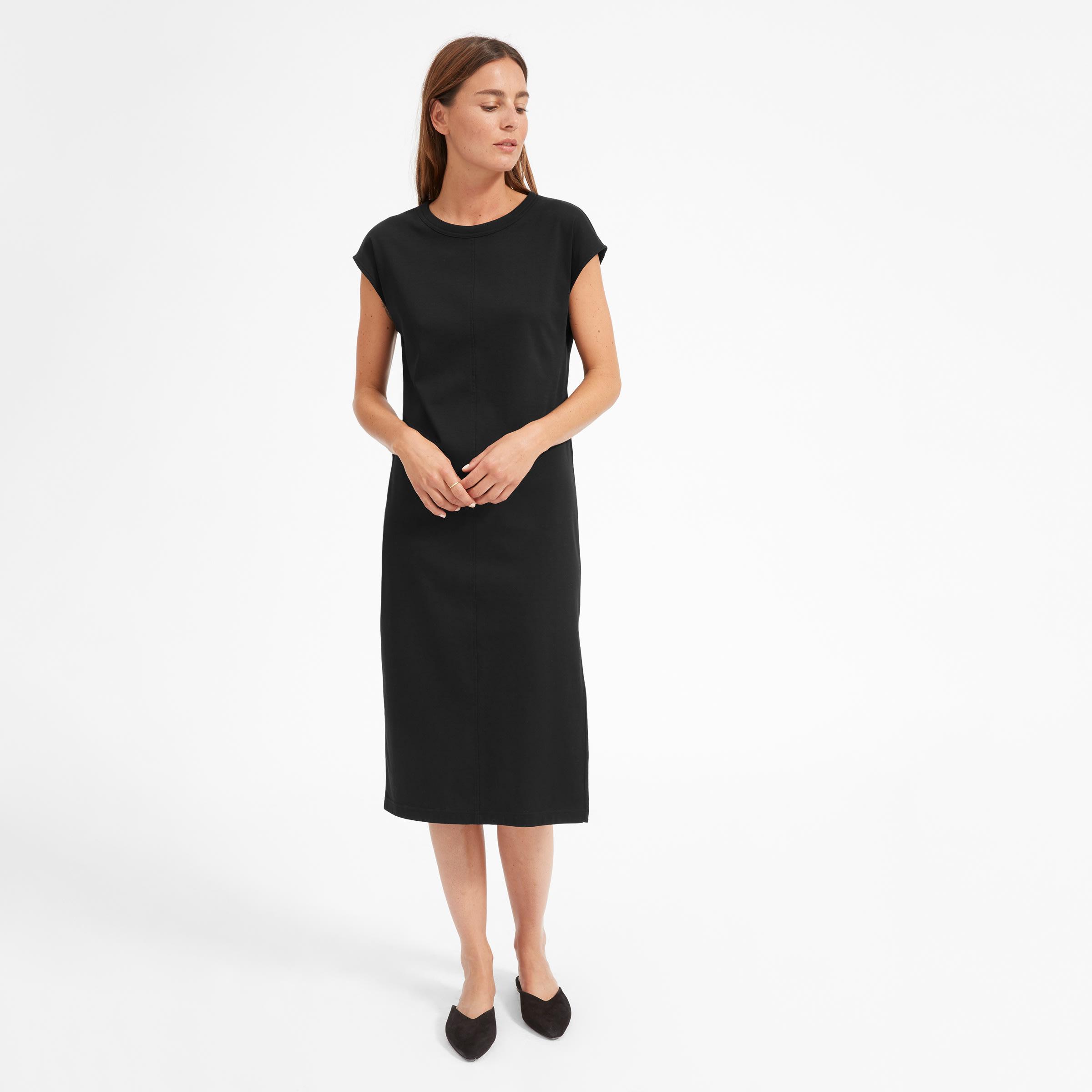 f30fafd206a Women s Luxe Cotton Side-Slit Tee Dress
