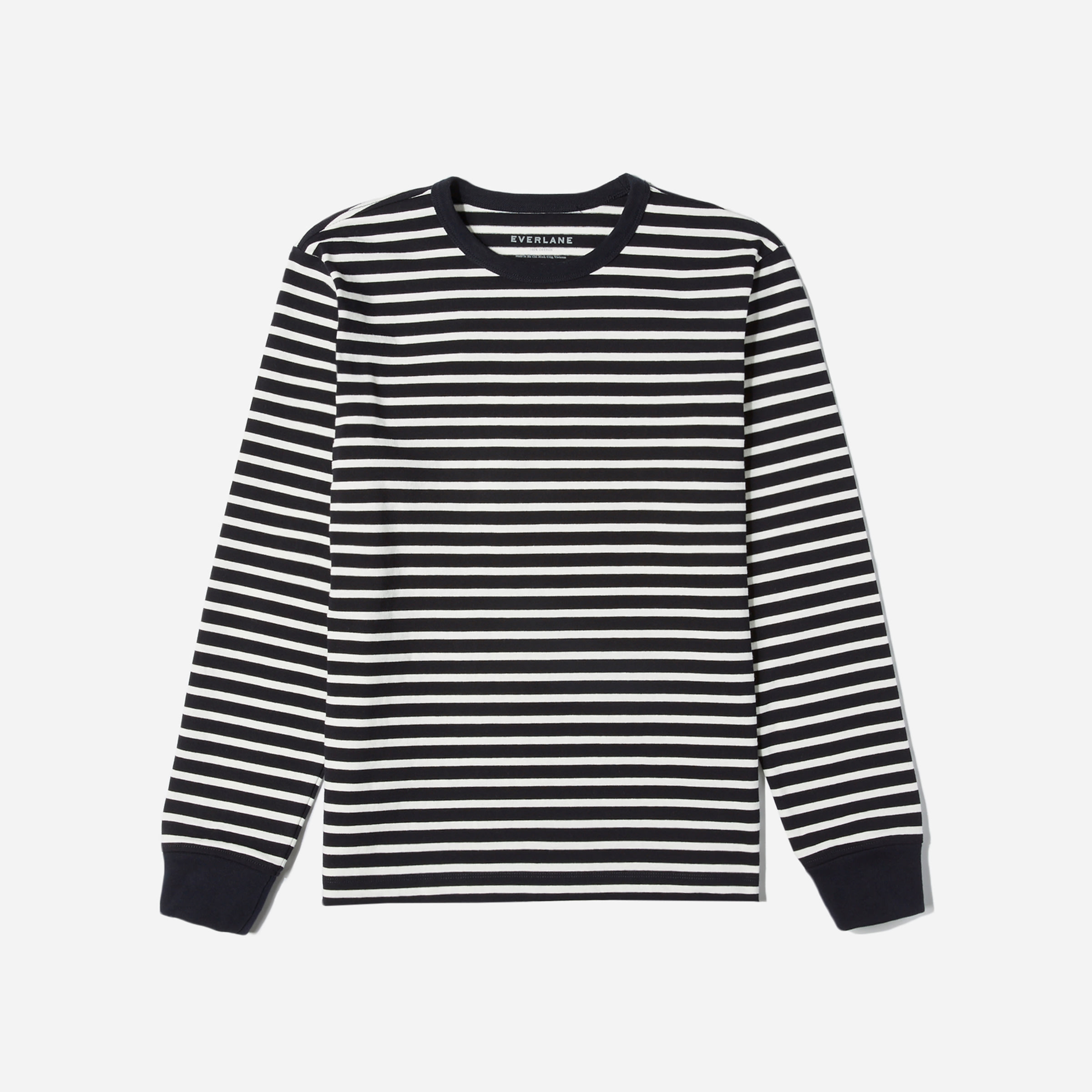 a75f0566 Mens Blue And White Striped Long Sleeve T Shirt