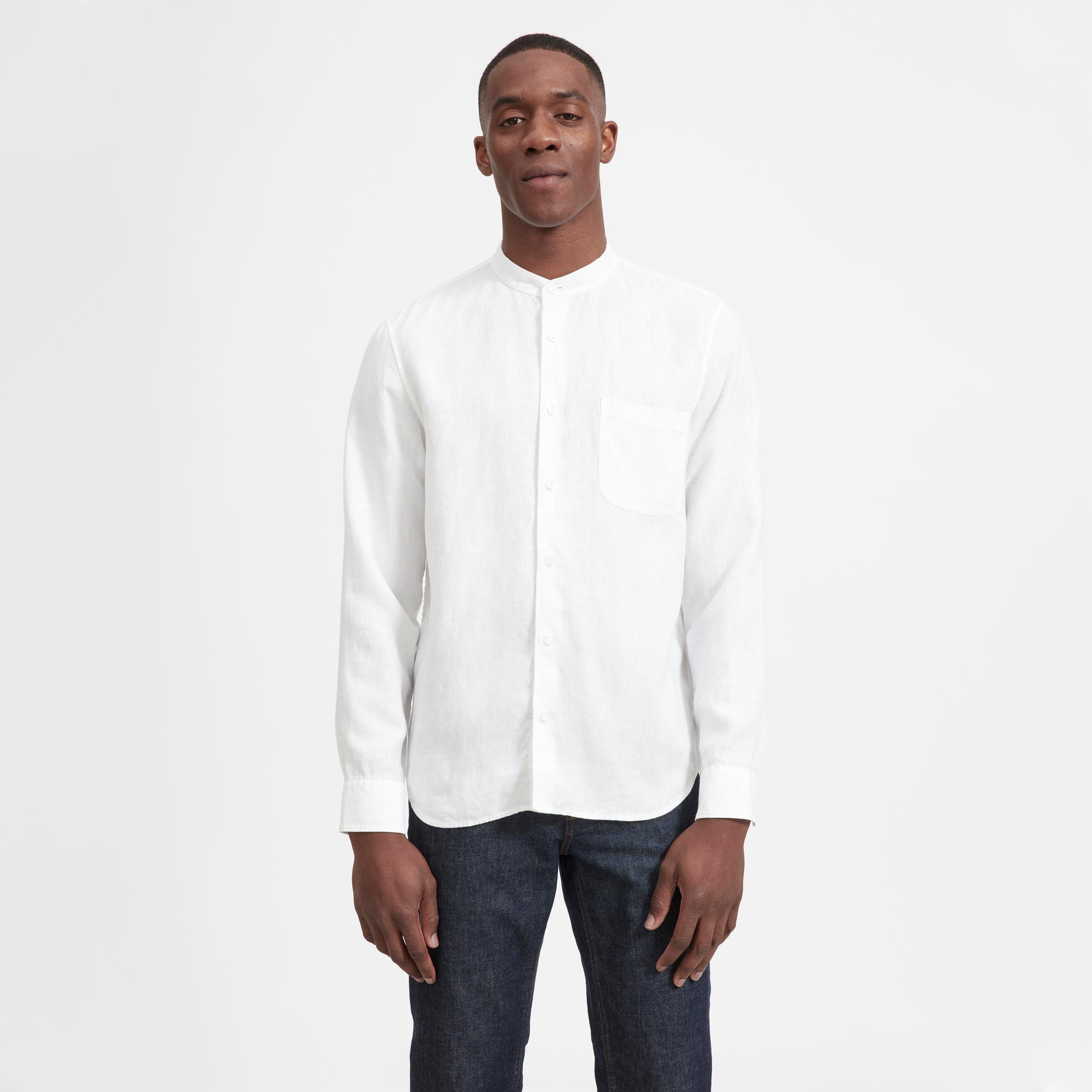 6781ccb86c Men's Linen Band Collar Shirt | Everlane