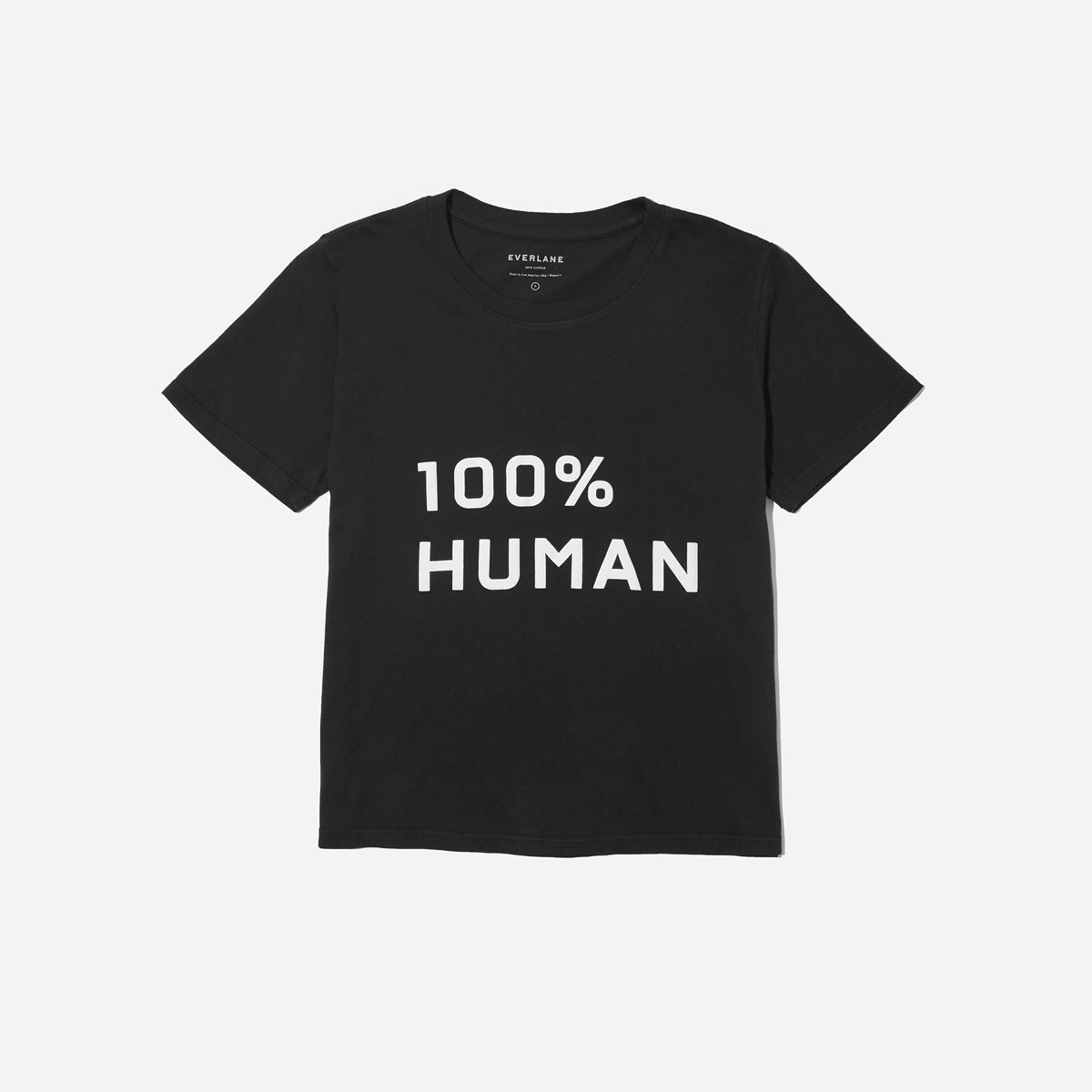 The 100% Human Box Cut Tee In Medium Print by Everlane