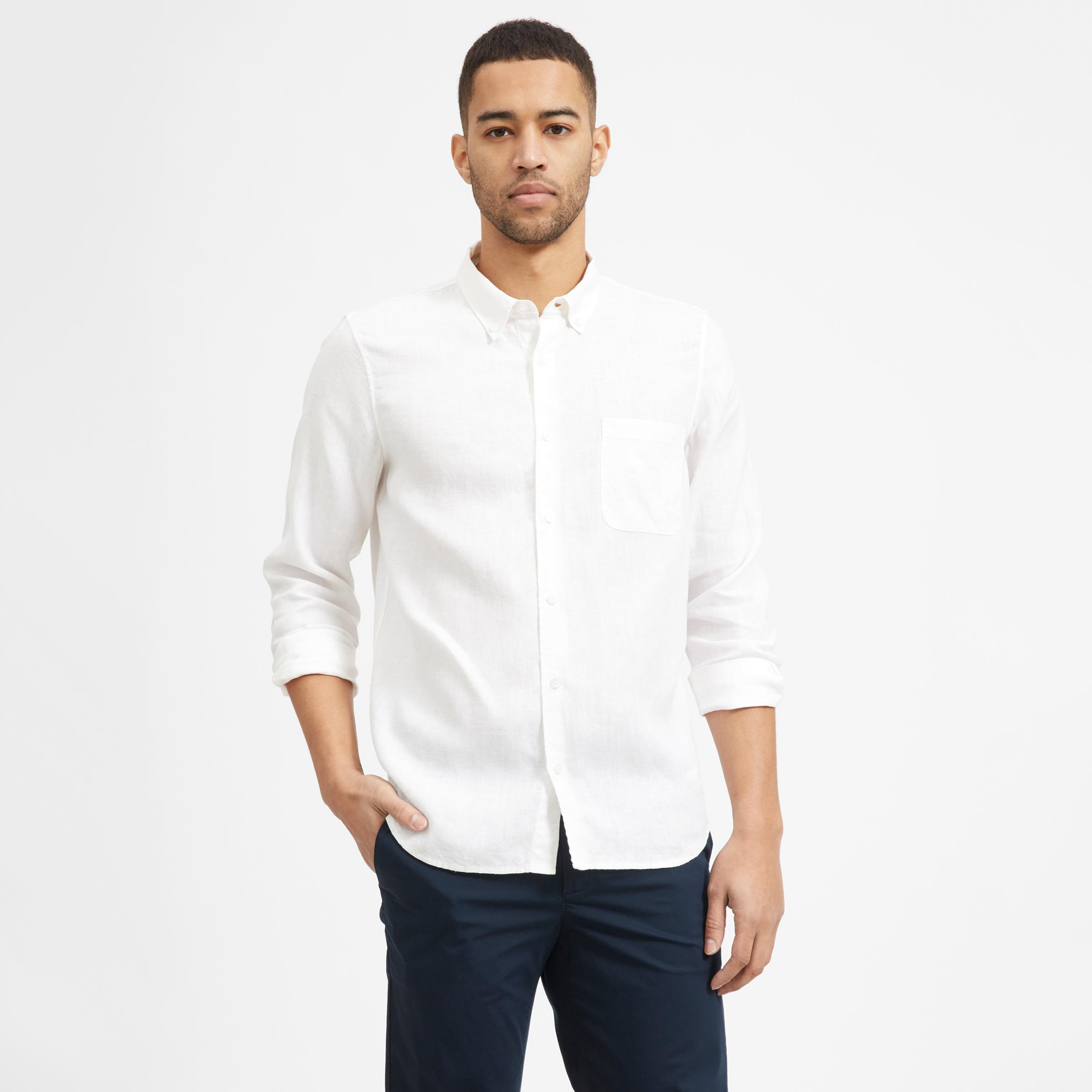 6a4cc72fa65dbf Men's Linen Standard Fit Shirt   Everlane
