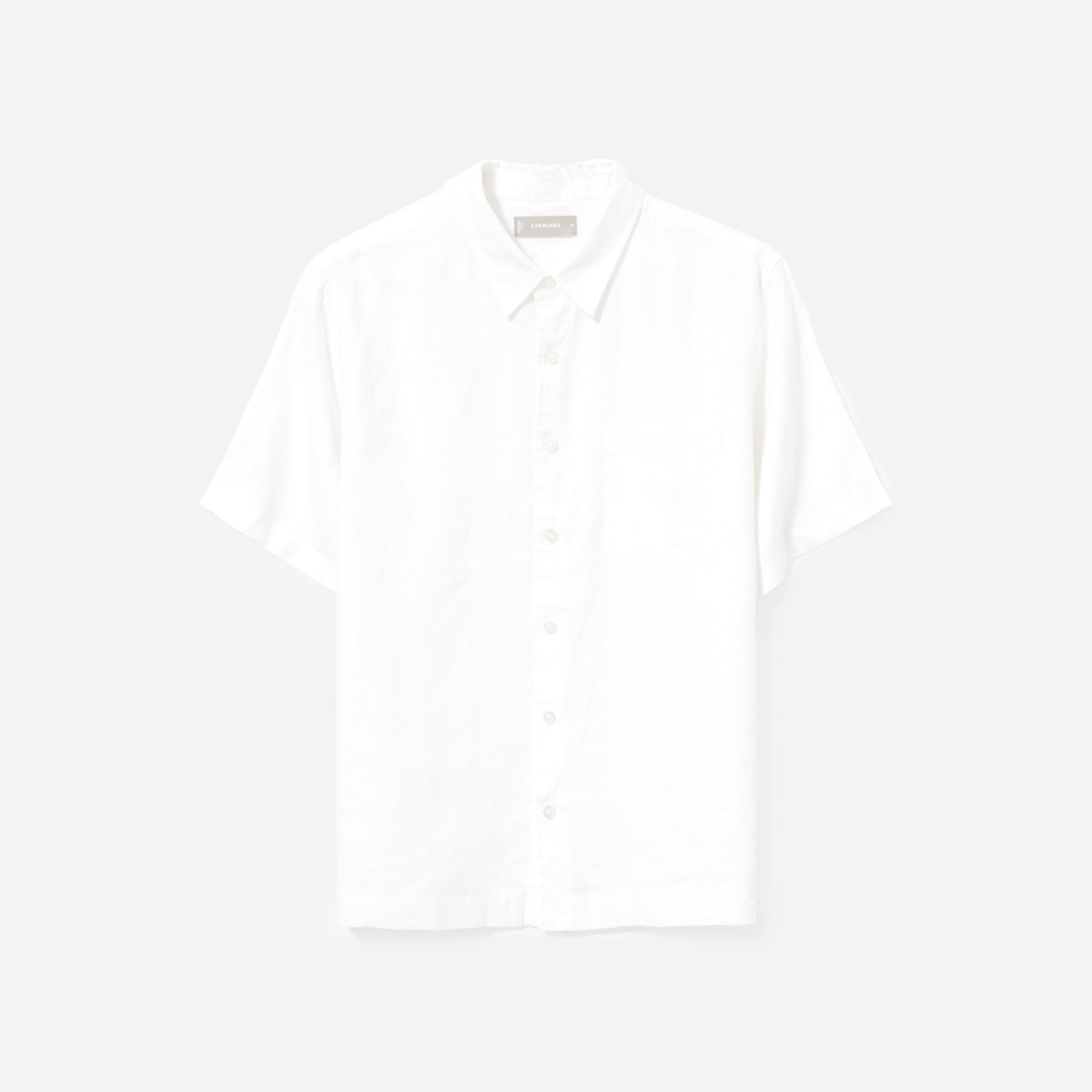 The Linen Relaxed Fit Short Sleeve Shirt by Everlane