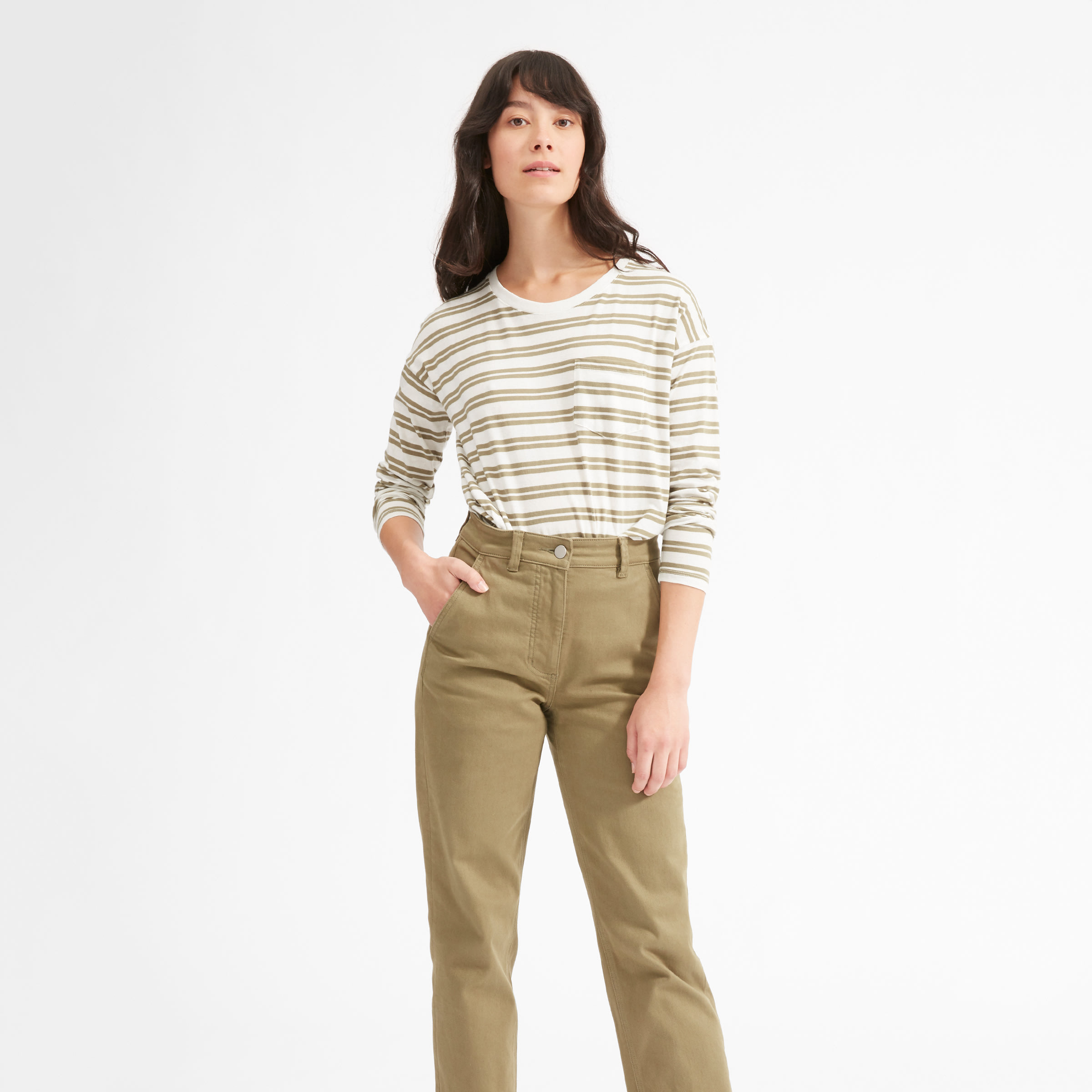 ab82a7d6 Women's Long-Sleeve Box-Cut Tee | Everlane
