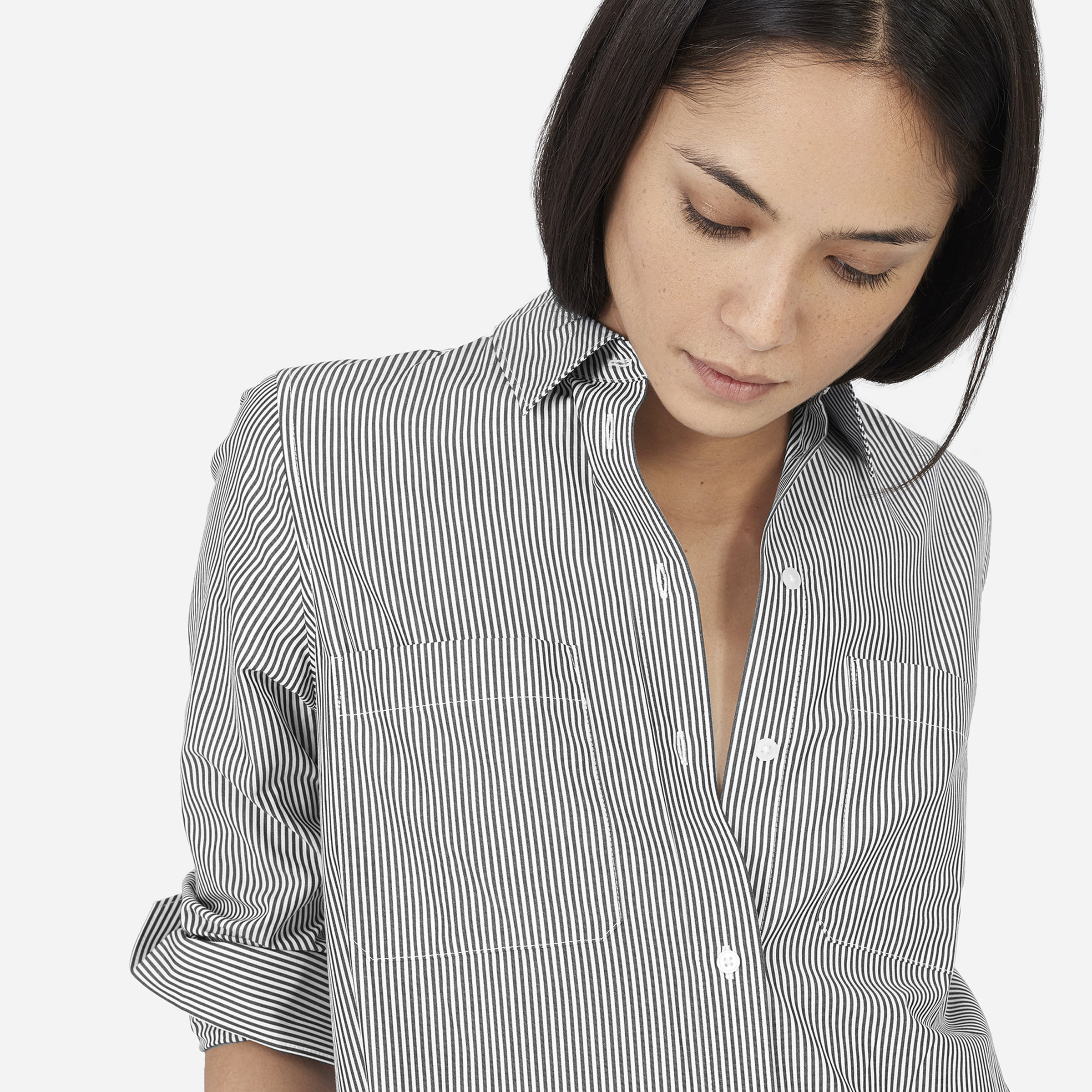 68889fd9163494 Women's Striped Cotton Poplin Shirt Dress | Everlane