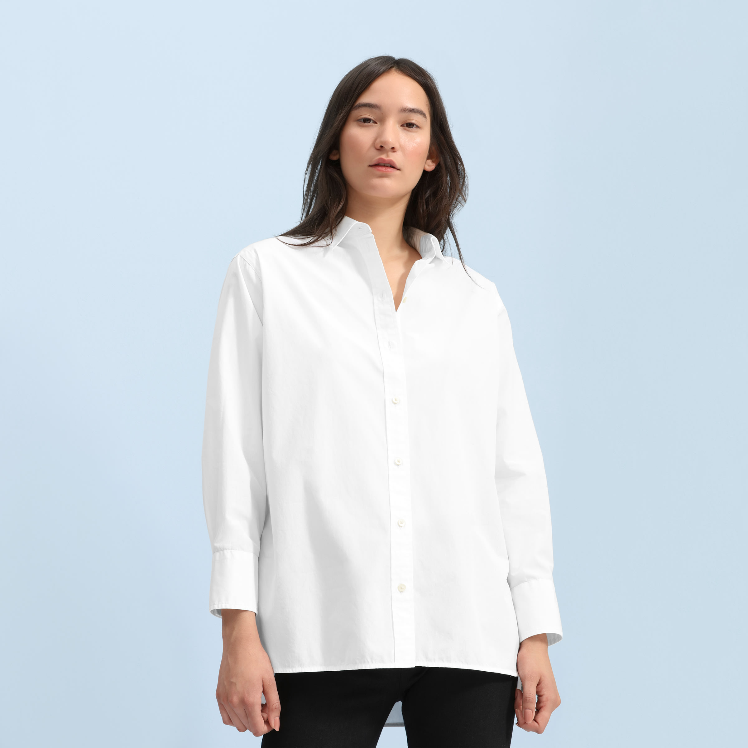 5ad96e9c095 Women s Poplin Oversized Shirt