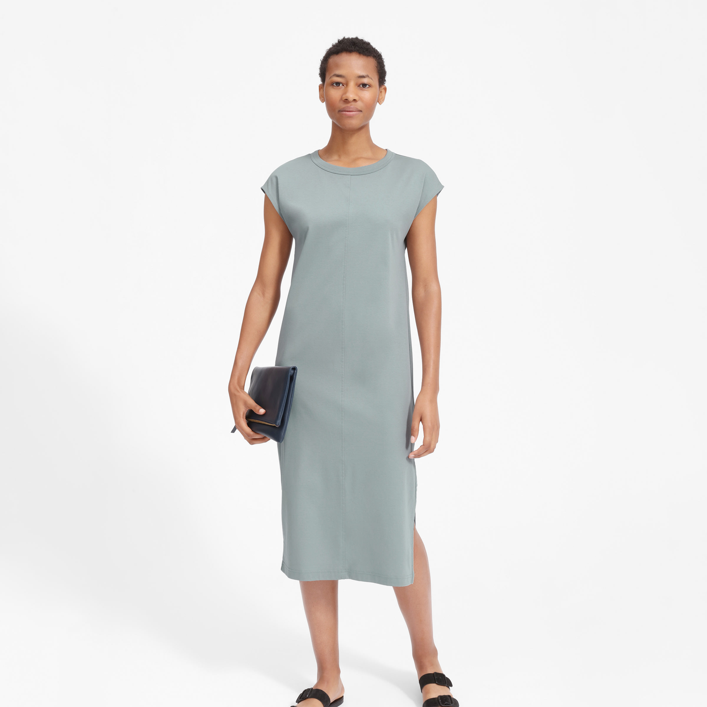 f30fafd206a Women s Luxe Cotton Side-Slit Tee Dress