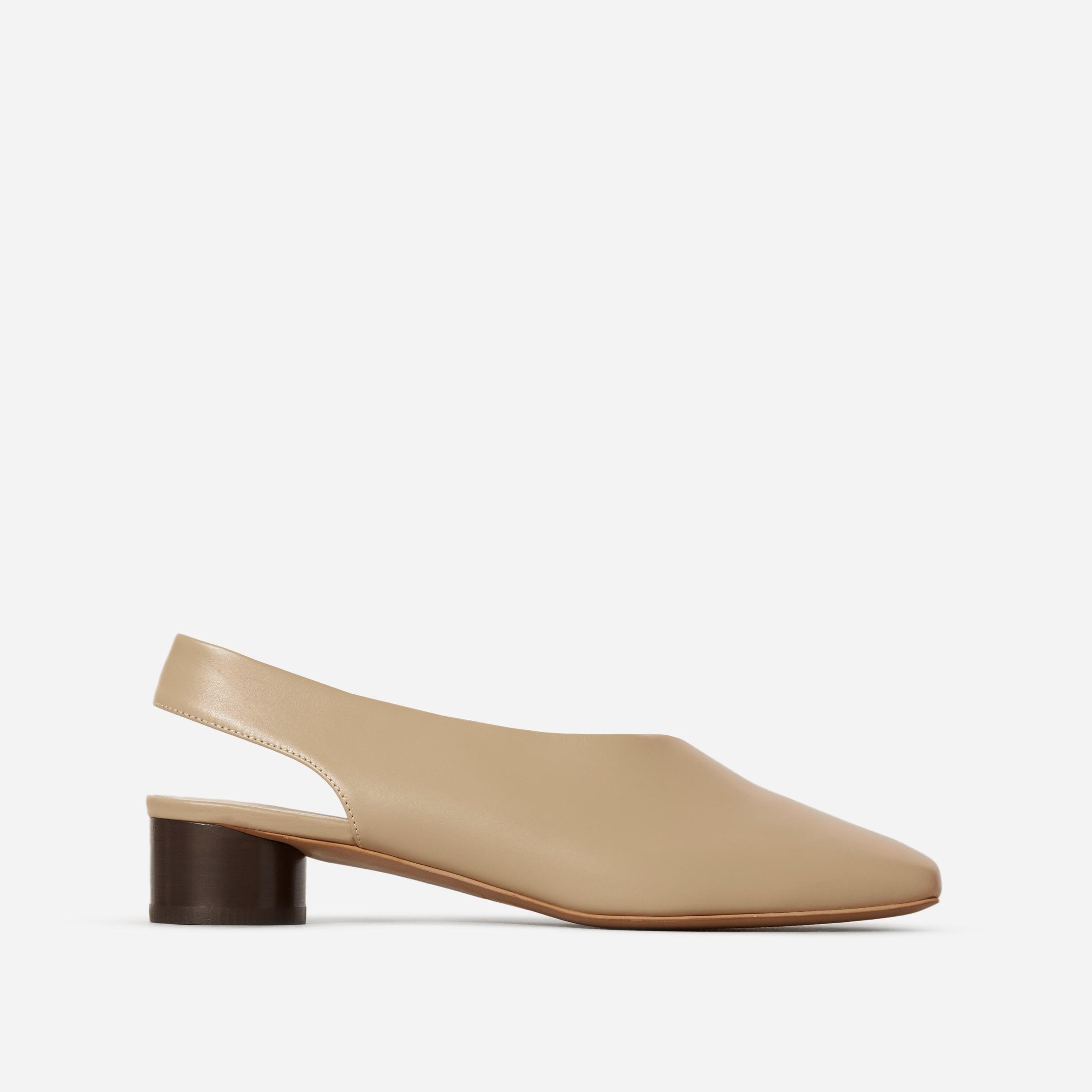 The Square Toe Slingback –$165   Everlane