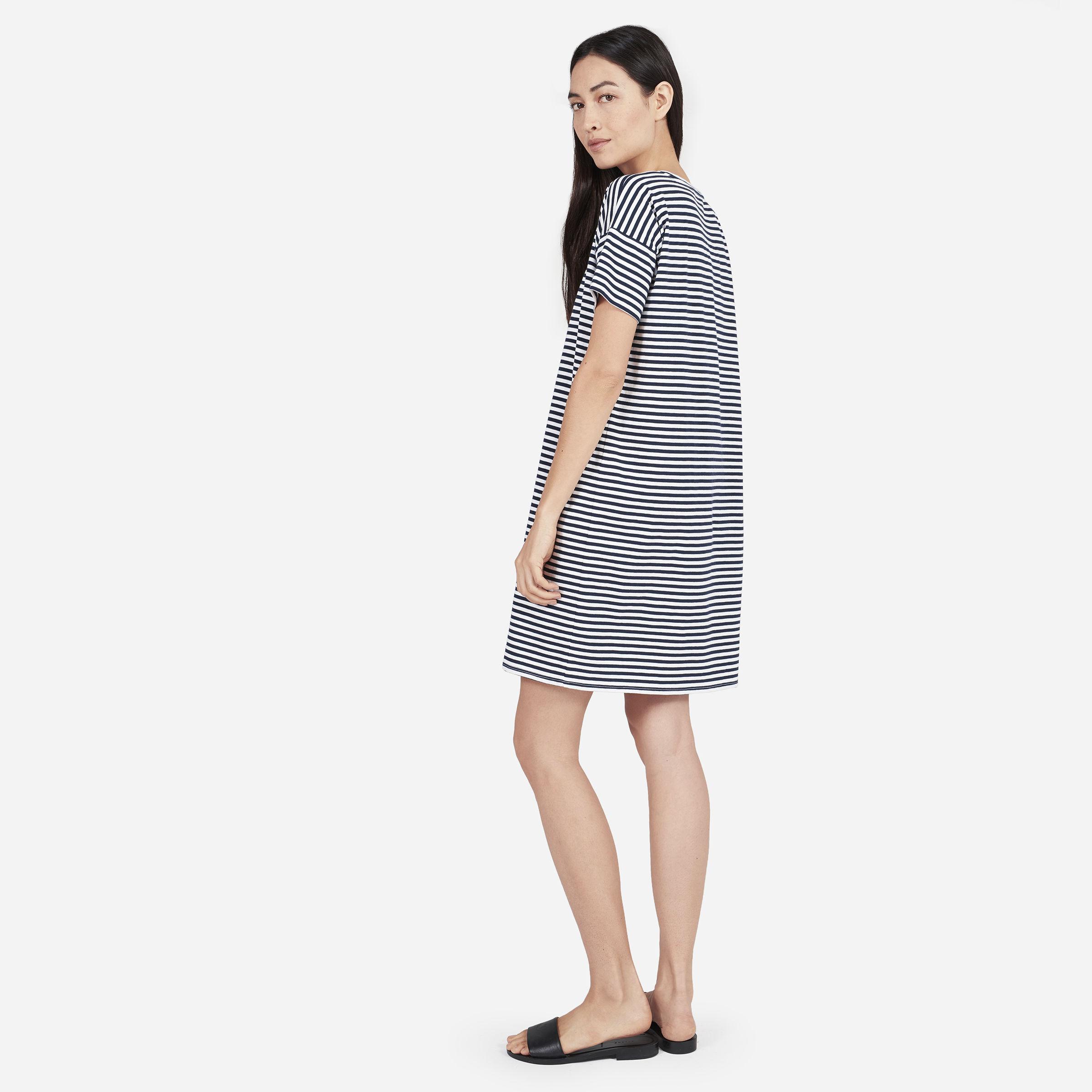 86c4f9cc91b9c The Cotton Striped Tee Dress