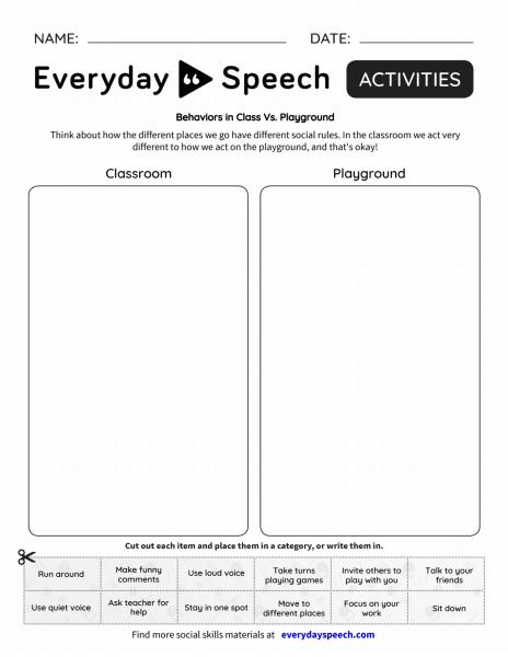 Behaviors in Class vs Playground