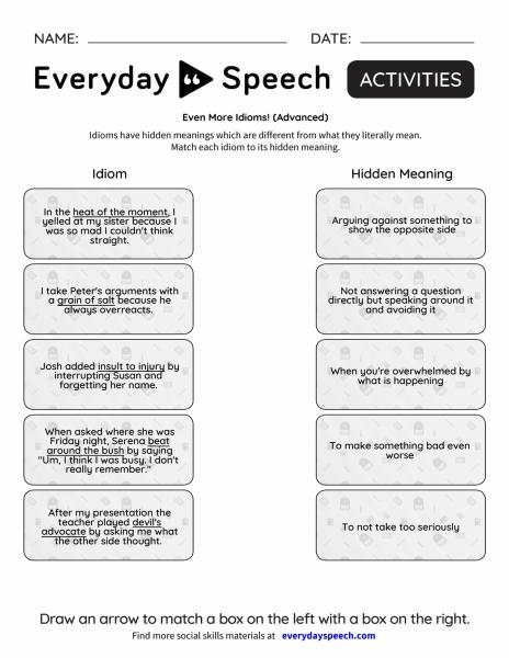 Even More Idioms!