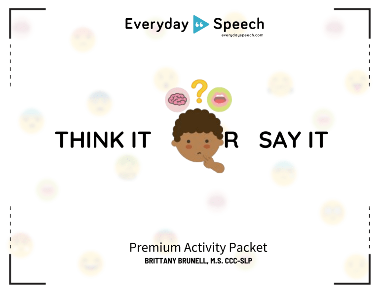 Think It or Say It Packet