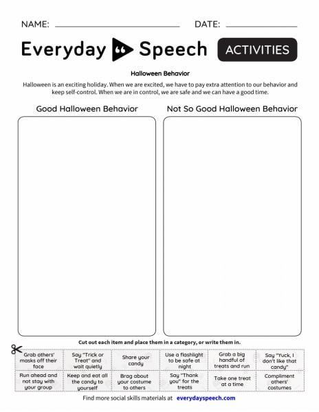 Halloween Behavior