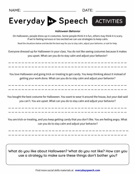 Halloween Behavior - Scenario response
