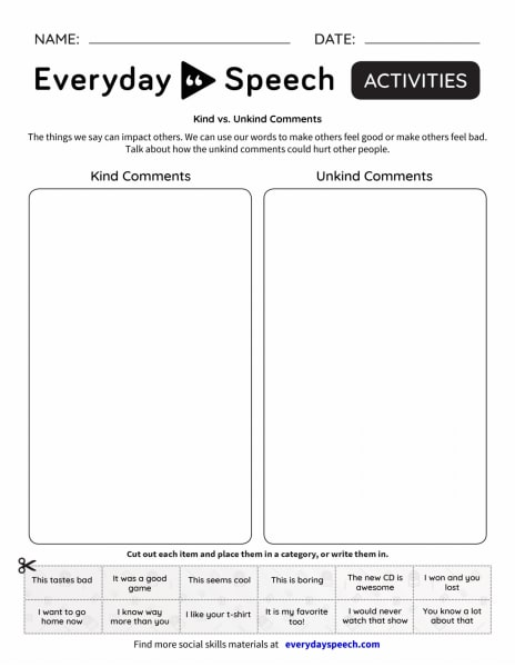 Interactive: Kind vs Unkind Comments