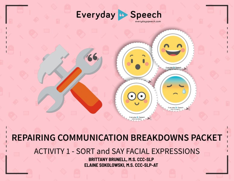 Sort and Say Facial Expressions
