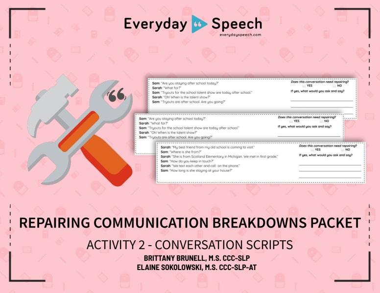 Repairing Communication Breakdowns - Conversation Scripts