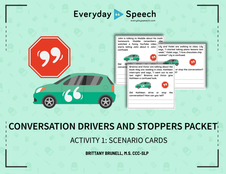 Conversation Drivers & Stoppers Scenario Cards