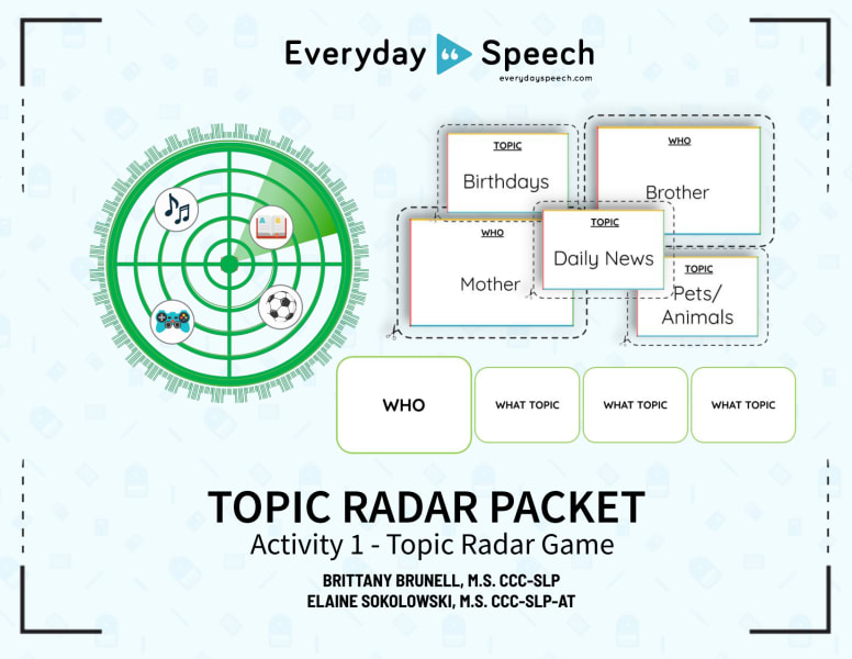 Topic Radar Game