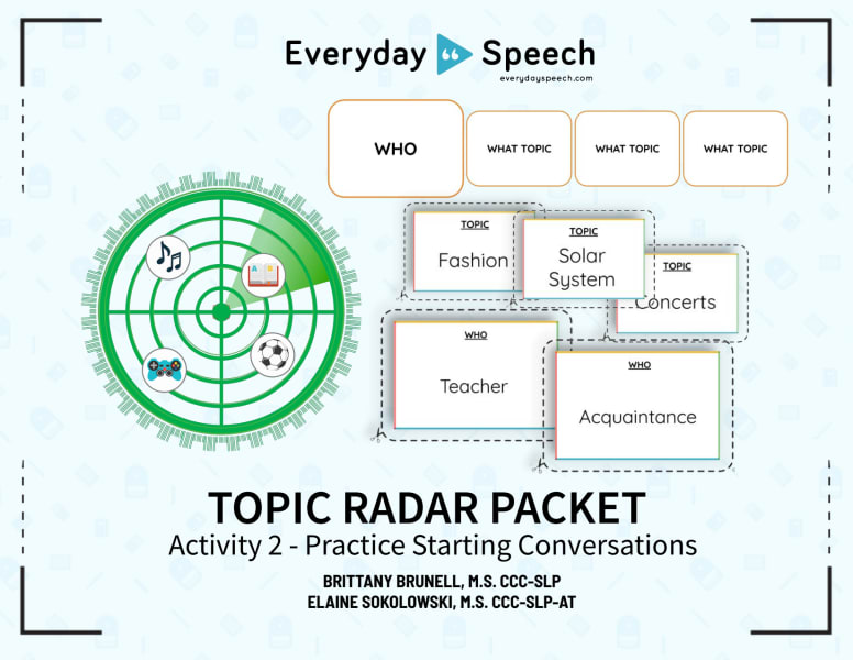Topic Radar Activity: Practice Starting Conversations