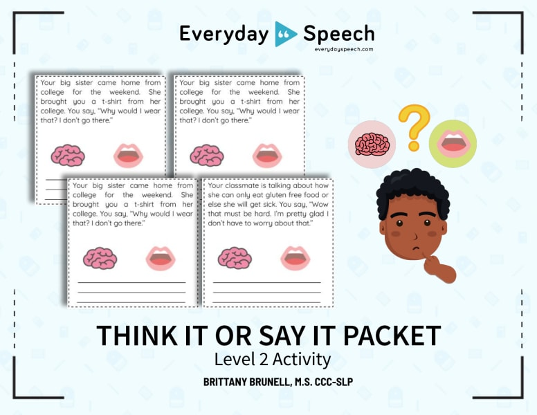Think It or Say It Packet Level 2 Activity