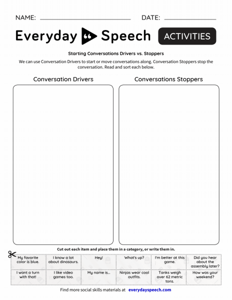 Starting Conversations Drivers vs Stoppers
