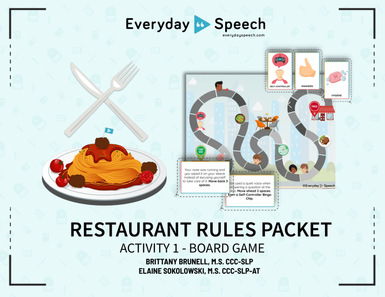 Restaurant Rules Board Game