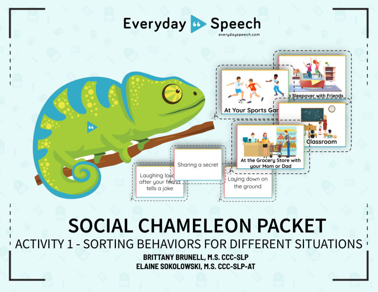 Social Chameleon - Sorting Behaviors For Different Situations