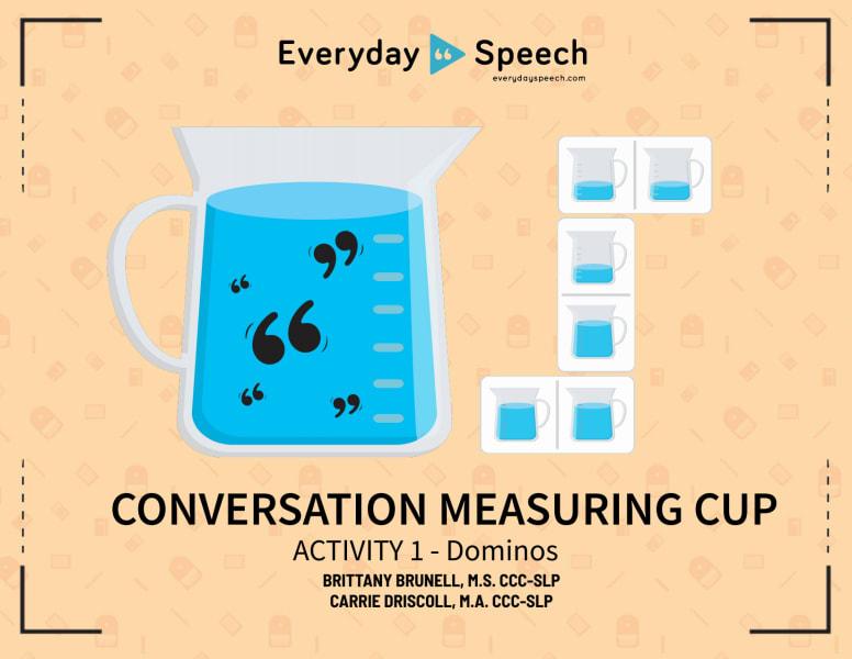 Conversation Measuring Cup Dominos