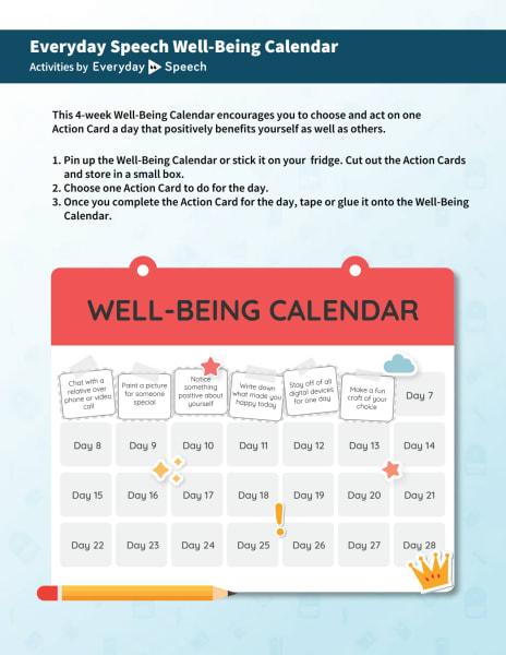 Well-Being Calendar