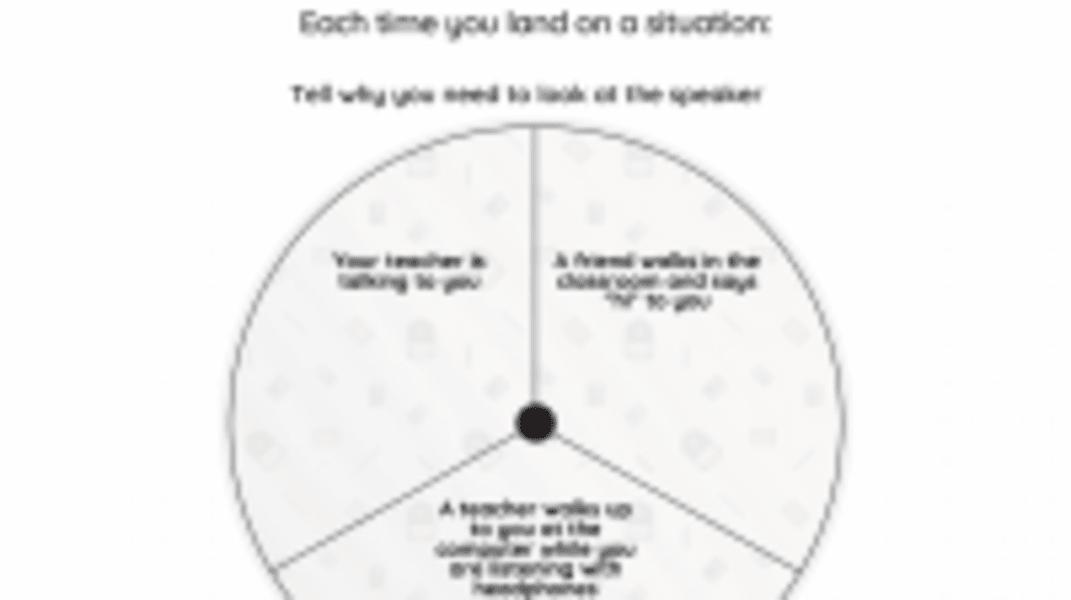 Interactive: Eye Contact, Listening Eyes