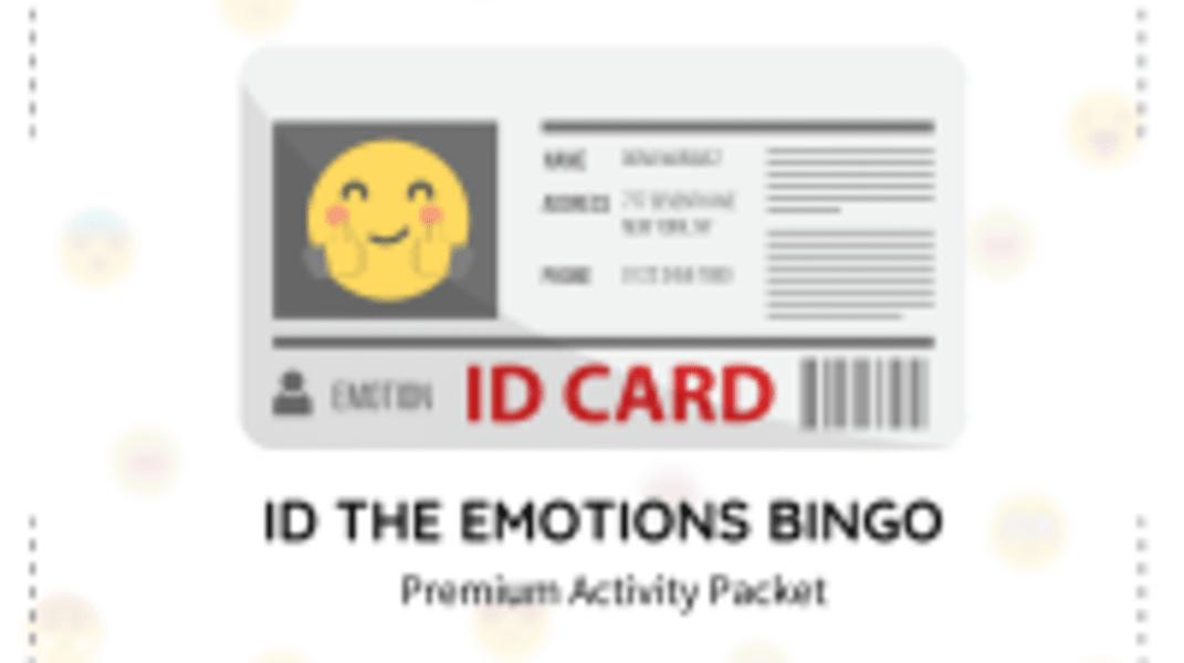 ID The Emotions Bingo Packet
