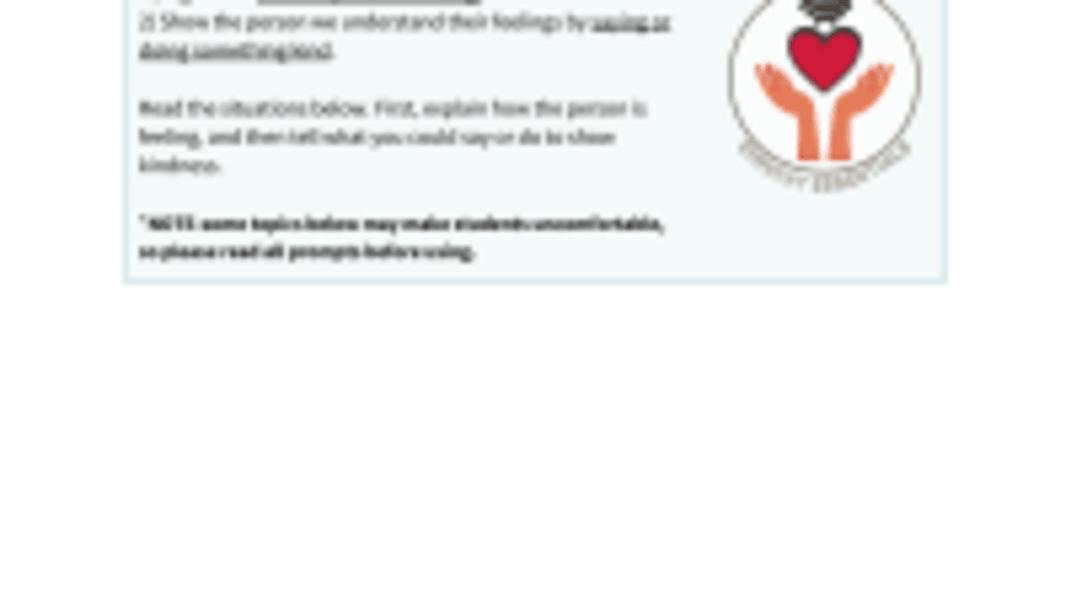 Empathy Essentials Question Cards
