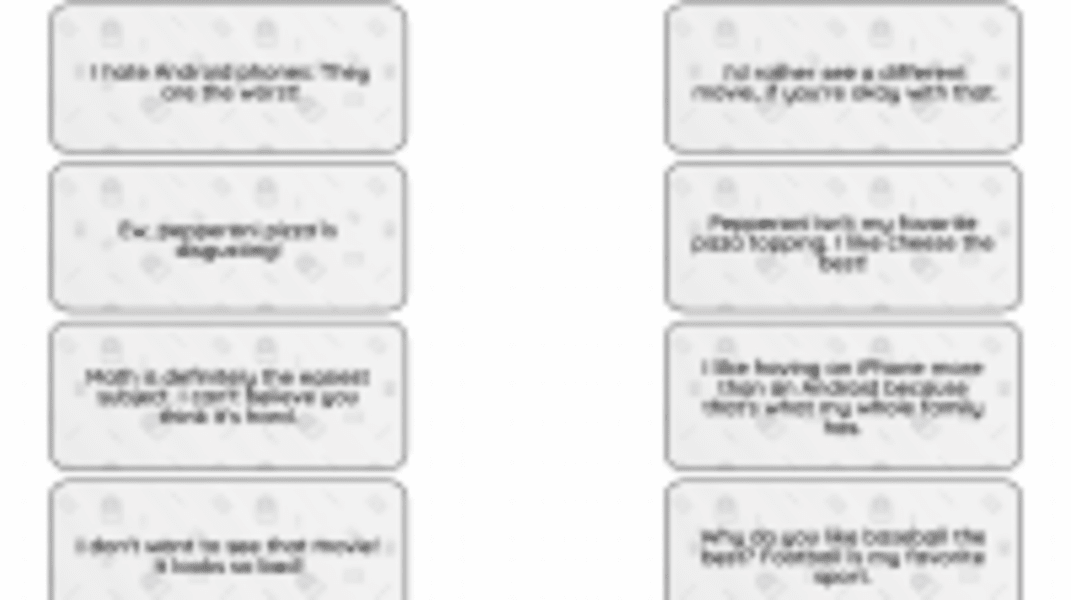 Interactive: How to Disagree with a Friend
