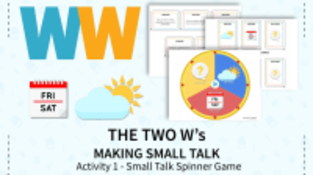 Small Talk Spinner Game