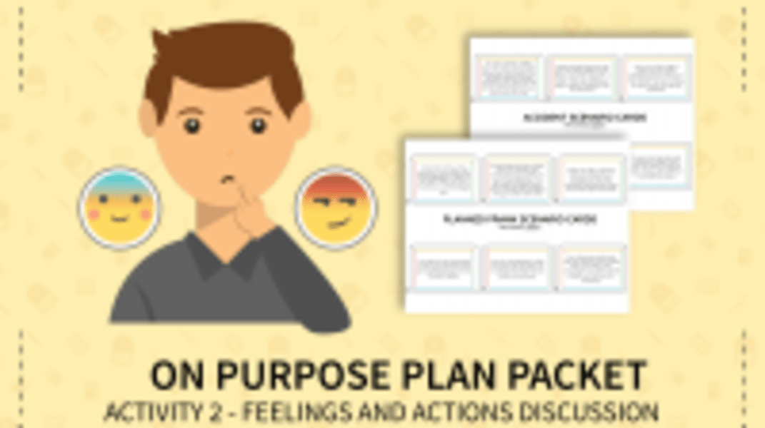 On Purpose Plan: Feelings & Action Discussion