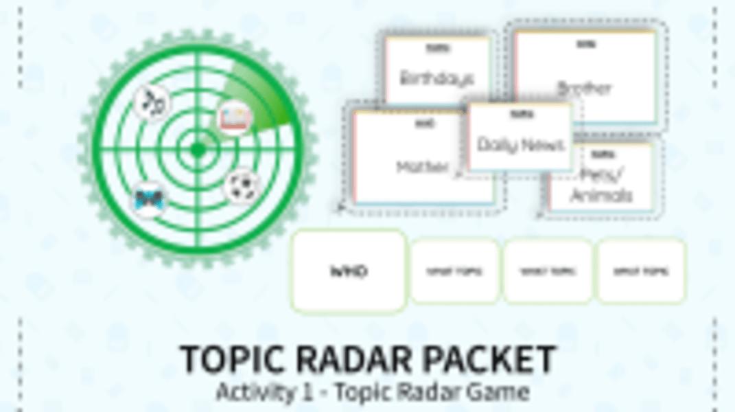Topic Radar Game