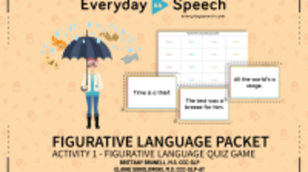 Figurative Language Quiz Game