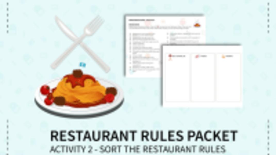 Sort the Restaurant Rules