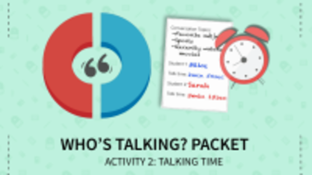 Talking Time Activity