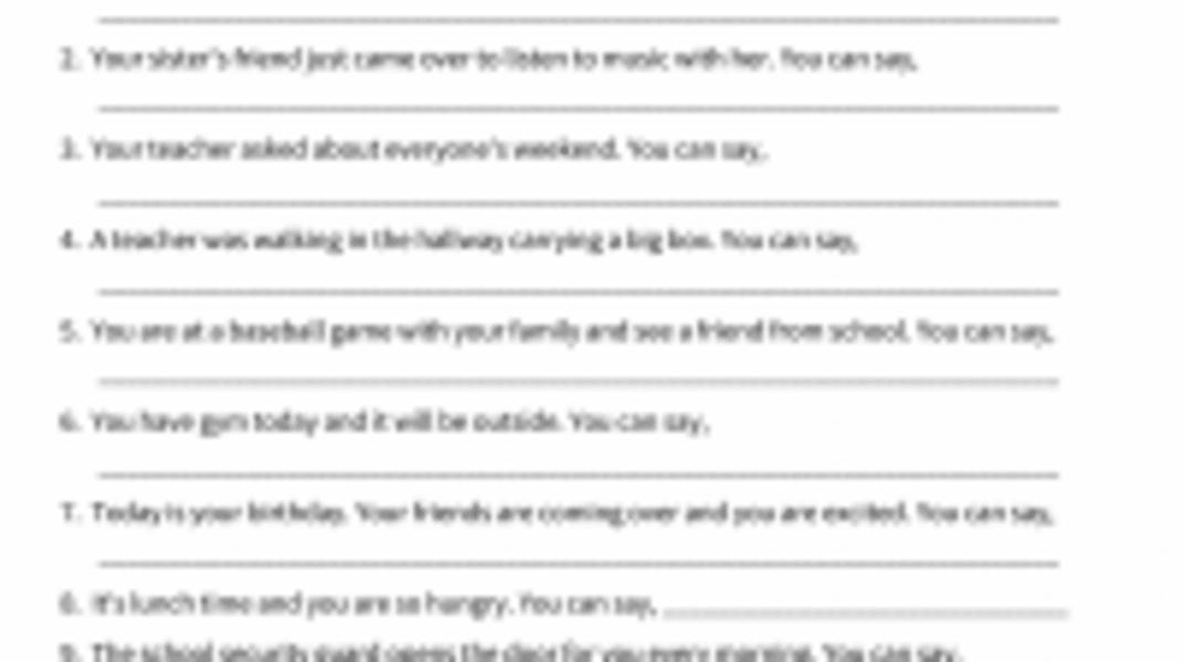 Interactive: Small Talk