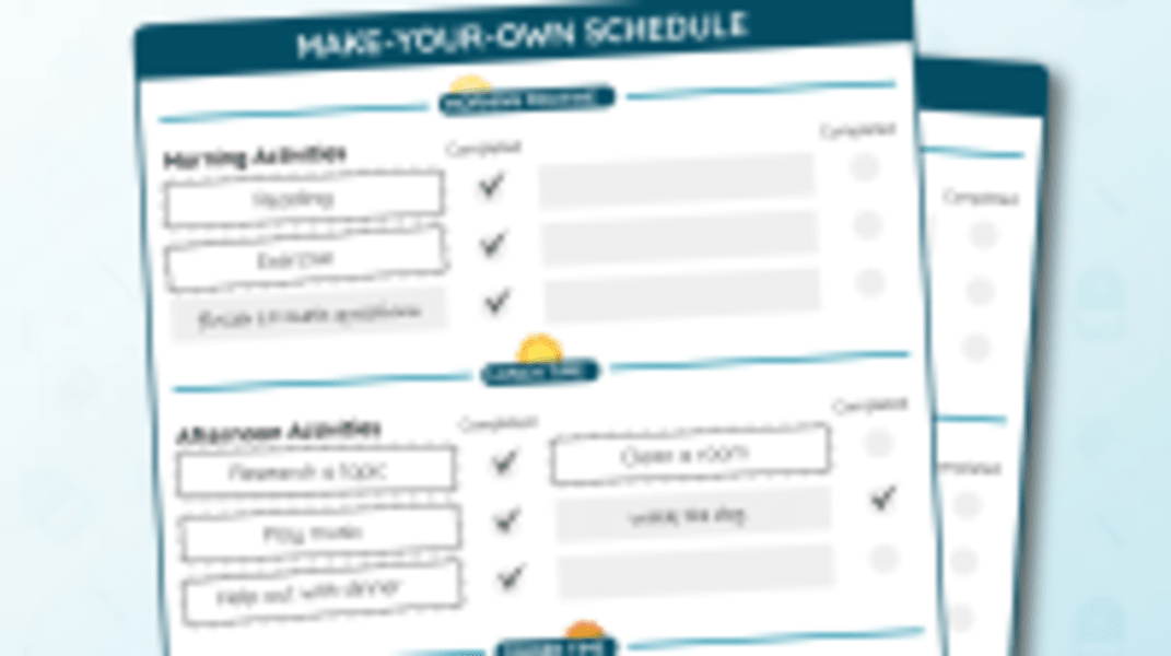 Make-Your-Own Schedule